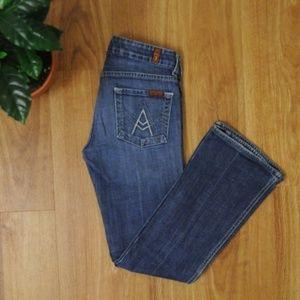 7FAM 'A' Pocket Bootcut Jeans 25x28
